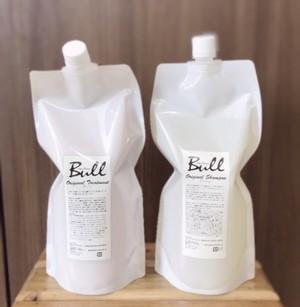 Bullオリジナルシャンプー【Bush】トリートメント【Bu-t】1ℓ詰め替えセット