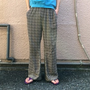 Pattern wide pants / H