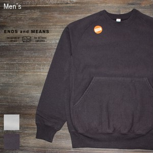 ENDS and MEANS クルーネックスウェット Heavy Crew Neck  EM172C013 (DARK CHOCOLATE)