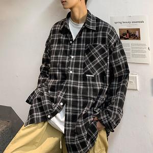 ワンポケットチェックシャツ BL5589