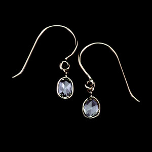 Rosecut diamond earrings / Oval
