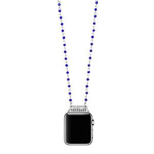 クリスタル ネックレスタイプ アップルウォッチ アクセサリー ブルー ジュエリー ★Apple Watch accessories 38mm/42mm/40mm/44mm ★ [NW657]