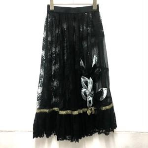 seethrough black lace skirt