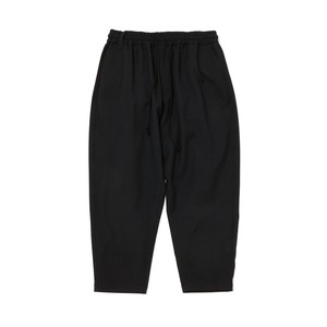 STRETCHED TAPERED SAROUEL PANTS - BLACK