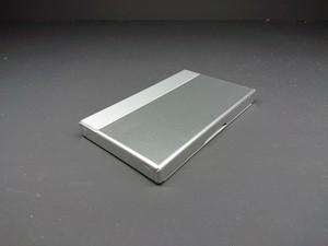 アルミニウム製名刺カードケース シルバー色