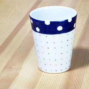 砥部焼 フリーカップ (水玉とカラードット)