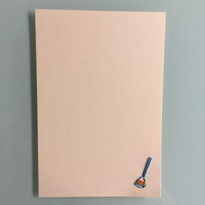 刺繍ポストカード(ビードロ)