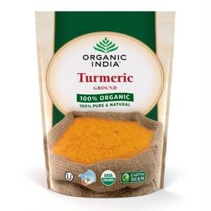 栄養満点 天然抗酸化物質と食物繊維 オーガニックインディア オーガニックターメリックパウダー 500g