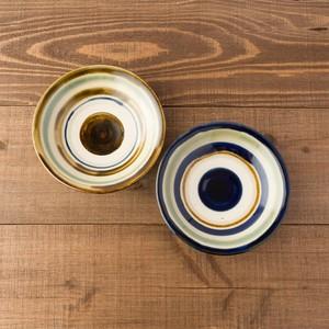 5寸皿重ね焼き/輪描き