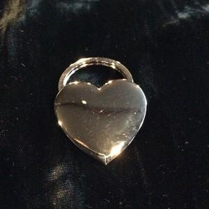 silver heart charm [B1430]