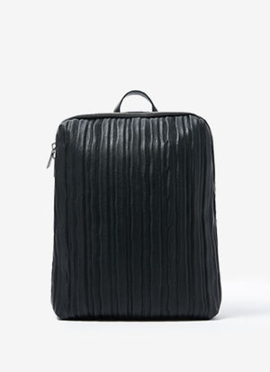 RECTANGULAR BACKPACK WITH CRINKLE FINISH
