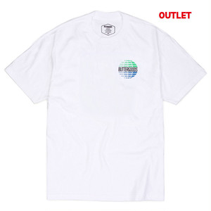 【アウトレット】BUTTER GOODS MULTINATIONAL LOGO TEE, WHITE サイズM