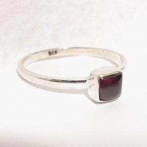 天然石シルバーリング ガーネットのリング size14  5038SR