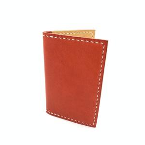 レザー名刺入れ・カードケース イタリア エルバマット 赤