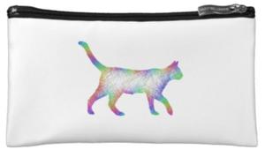 虹猫の散歩・化粧ポーチ(ハンガリーデザイン)
