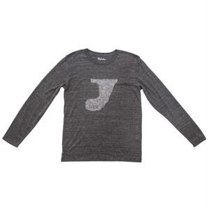 プリントロングスリーブTシャツ:ヘザーチャコール