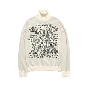 CHRISTIAN DADA - Quotes Jacquard Turtleneck Knit Sweater (WHITE) -