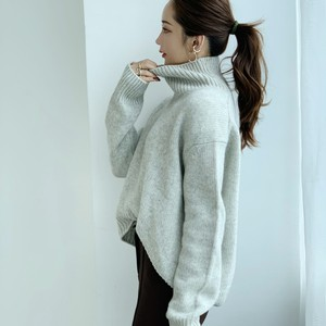 【50%OFF SALE】cashmere high neck knit / gray (即納)
