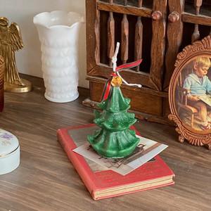 Christmas tree candle C / クリスマスツリー ハンドメイド アロマ キャンドル オブジェ 韓国 雑貨
