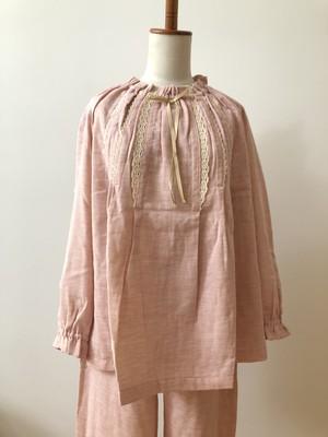 【IKUKO】 2色 パジャマ ダブルガーゼ オーガニックコットン Pink/Blue