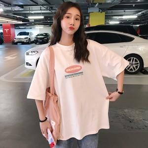 【トップス】海外トレンドシンプルプリントプラスサイズ一流の半袖Tシャツ