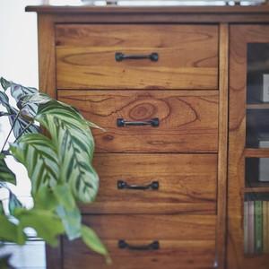 Mindy Wood Cabinet 1200 /  北欧アンティークスタイル 木製キャビネット 120cm