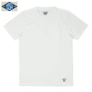 NS002006  USA COTTON CREW NECK Tee  /  WHITE