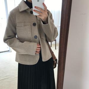 ウールコート ショート丈ジャケット 秋冬商品 アウター【0541】