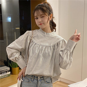 【トップス】新作韓国風レトロスウィート合わせやすい長袖シャツ