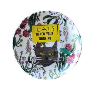 【UPCYCLE 】DECOPAGE PLATE CAT renew your thinking