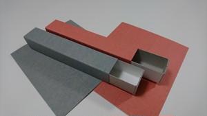 紙箱/(スライド式)ギフトボックス-ボールペンサイズ 6個入