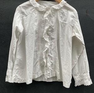 France 1920~40's Cotton Blouse #01