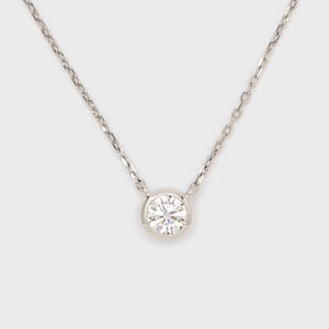 ENUOVE frutta Diamond Necklace K18WG(イノーヴェ フルッタ 0.2ct K18ホワイトゴールド フクリン留めダイヤモンドネックレス アジャスターワカンチェーン)