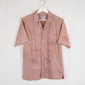 """""""CAFE MENU"""" Overdye Open-collar Shirt"""