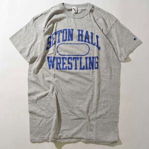 【XLサイズ】CAHMPION チャンピオン SETON HALLCOLLEGE TEE 半袖 Tシャツ GRAY グレー XL 400601200130