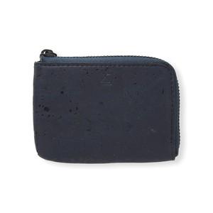 VEGAN COIN CASE - BLUE / コインケース 青 コルク製 ビーガン 一年保証