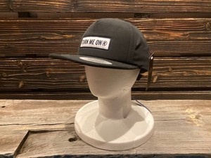 Turn Me On  ロゴワッペンキャップ WATER REPELLENT加工(BLACK)  521-241