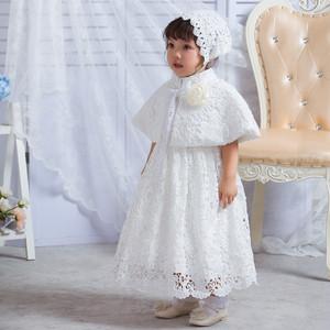 8444ドレス キッズ ベビー 女の子ドレス フォーマルドレス 赤ちゃん 出産祝い お宮参り 新生児 ワンピース 白 3M6M12M24M 80cm 90cm