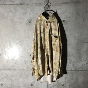 [used] cream campus designed shirt