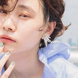 E-52 pierce/earring(gold×clear)
