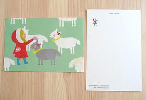 ポストカード(女の子と羊)