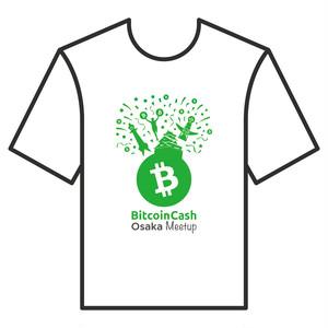 【限定】BitcoinCashTシャツ OsakaMeetup 白 COFA(A4-OSA001)