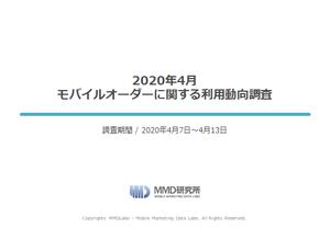 2020年4月 モバイルオーダーに関する利用動向調査