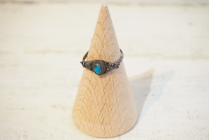 Antique Silver Turquoise Ring [A-248]