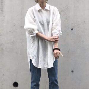 Liyoca リヨセルラミーオーバーシャツ WHT【20SS】