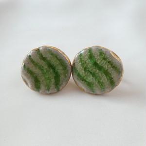 70s ヴィンテージイヤリング green ceramic earrings
