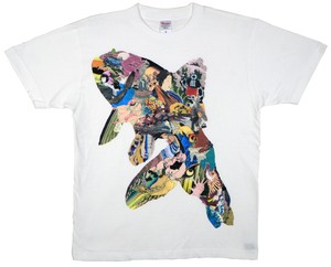 KOTA MIYAMOTO  Collage T-shirt『金魚 × 浮世絵』