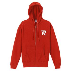 R-logo Breast / ジップパーカー(White/Red)【送料無料】【Shop限定】