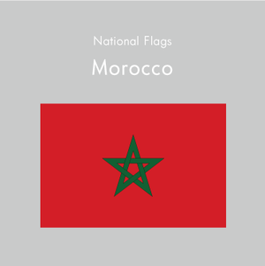 国旗ステッカー モロッコ