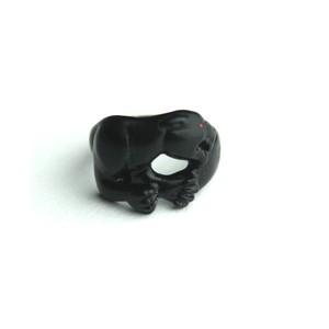 Rhomvas/ロンヴァス Panther with red eye ring(Matte Black)